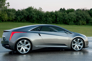 Cadillac's dramatic luxury coupe with extended-range electric vehicle technology.  Photo / Wieck
