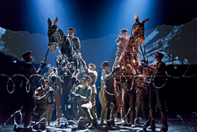 Each horse in War Horse are operated by three people, whose aim is to disappear into the costume to make the creature seem as real as possible. Photo / Supplied
