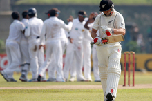 The New Zealand cricketers are in a dark place at the moment after slumping to their fifth-straight defeat. Photo / AP