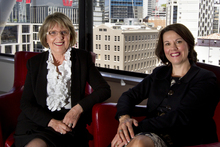 Angela Neighbours (left) and Raechel Ford are expanding in Australia, but staying NZ-based. Photo / Brett Phibbs