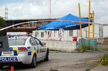 crime scene at Selwood Road Henderson at which Charanpreet Dhaliwal died. Photo / Doug Sherring