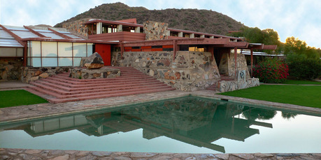 Frank Lloyd Wright's Taliesin West on Frank Lloyd Wright Boulevard. Photo / Supplied