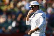 South African captain Graeme Smith stands in the field during day one of the second test against Australia. Photo / Getty Images