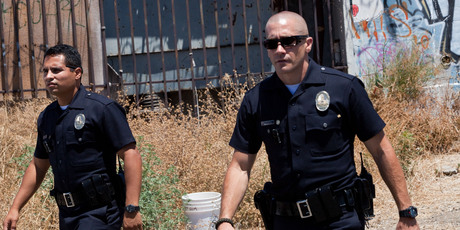 Jake Gyllenhaal and Michael Pena in a scene from End of Watch. Photo/AP
