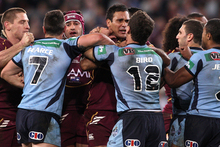 New South Wales and Queensland clash during this year's State of Origin. Photo / Getty Images