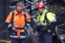 Mines Rescue staff enter the Pike River Mine for the first time since the mine explosions which killed 29 workers. Photo / File photo 