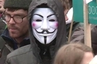 Students demonstrated in London on Wednesday against government-backed austerity measures and rising fees in education.