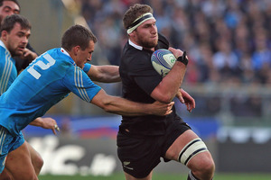 Kieran Read was the top ball carrier for the All Blacks with 15 carries for a gain of 86 metres. Photo / Getty Images