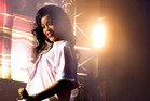Rihanna performs on her final 777 tour stop in New York. Photo/AP