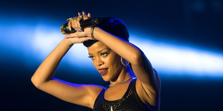 Rihanna performs during the fifth stop of her seven day, seven country tour. Photo/AP