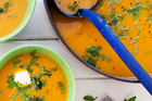 Carrot, orange and paprika soup. Photo / Babiche Martens