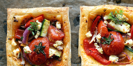 Yummy to eat, beautiful to look at and easy to make ... tomato and feta tarts. Photo / Doug Sherring