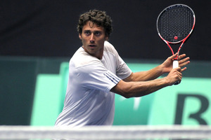 New Zealand Davis Cup player Artem Sitak has reached the semifinals of singles and doubles at the US$10,000 Futures at Phnom Penh, Cambodia today. Photo / John Borren.