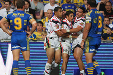 The Warriors won this year's clash in Parramatta. Photo / Getty Images