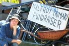 Rotorua's Ruth Thomas was 'gutted' to wake up yesterday morning to find thieves had stolen items which were to be turned into scrap metal to raise money for Rotorua Montessori. Photo / Ben Fraser