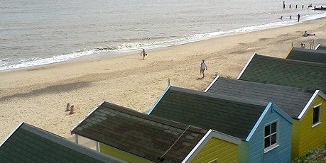 Southwold's beach huts. Photo / Jill Worrall