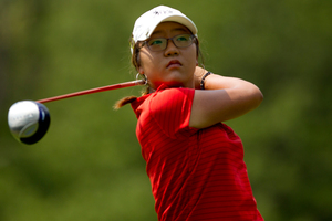 When Lydia Ko was a young girl, she was known to skip rather than walk and it's with that carefree nature that she doesn't seem to feel pressure on the golf course. Photo / Getty Images.