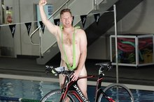 Mark Stride is completing the Tinman Triathlon this weekend in a mankini. Photo / George Novak