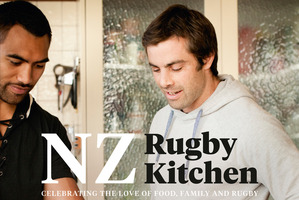 Victor Veto and Conrad Smith contribute to a new cookbook for the NZ Rugby Foundation.Photo / Supplied