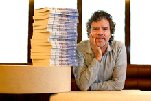 Peter Gordon with his new cook book, Peter Gordon Everyday. Photo / Steven McNicholl