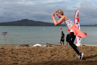 Rachel's leapfrogging efforts on Mission Bay's soft sand tested her glute and thigh muscles to their limit. Photo / Getty Images