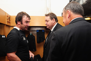 All Black hooker Andrew Hore (left) will effectively get a three-match discount on whatever ban he cops. Photo / Getty Images