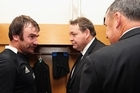 All Blacks coach Steve Hansen spoke to the media pre Andrew Hore receiving his five week ban for his swinging arm challenge that knocked out Welsh lock Bradley Davies. NZRU CEO Steve Tew also fronted the media to explain the rugby judicial process amid allegations the All Blacks play like 'thugs' from parts of the British media.