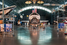 Space Shuttle Discovery is the headlining star at the Smithsonian's Udvar-Hazy Centre. Photo / NASM