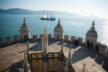 The top of the castle at Belem gives spectacular views around Lisbon, while the surrounding area is one of the city's oldest parts. Photo
