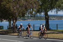 Competitors take part in the Lake Taupo Cycle Challenge