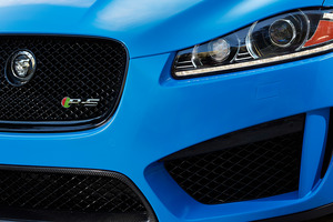 Jaguar has released a sneak peek of the new XFR-S, which will be revealed in full this week. Photo / Supplied