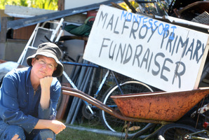 "Ruth Thomas was ""gutted'' to wake up yesterday morning to find thieves had stolen items which were to be turned into scrap metal to raise money for Rotorua Montessori. Photo / Ben Fraser"
