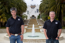 The Dotcom mansion was one of Stephen Goodhue and Bruce Cox's higher-profile jobs. Photo / Greg Bowker