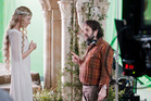 The even-more ethereal Cate Blanchett with Hobbit director Peter Jackson. Photo / Todd Eyre