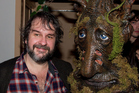 Dave from Calgary Canada dressed as an Ent (living tree) poses with Sir Peter Jackson during Costume Party at the Amora Hotel. Photo / Marty Melville