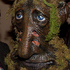 Dave from Calgary Canada dressed as an Ent (living tree) poses with Sir Peter Jackson during The Hobbit Premiere Tour Costume Party at the Amora Hotel in Wellington. Photo / Marty Melville