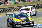 Scott McLaughlin on his way to winning the inaugural V8 SuperTourers championship at Ruapuna. Photo / Geoff Ridder
