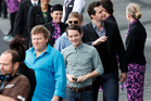 Hobbit actors, from left, Stephen Hunter, Elijah Wood, Martin Freeman and Richard Armitage. Photo / Mark Mitchell