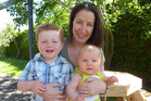 Nicky Gill, with her children Toby, 33 months, and Greta, 5 months, is a fan of baby-led weaning. Photo / Supplied
