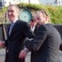James Nesbitt and Hugo Weaving on the stage during the World premiere of The Hobbit. Photo / Mark Mitchell