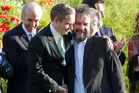 Martin Freeman and Sir Peter Jackson during the World premiere of The Hobbit. Photo / Mark Mitchell