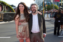 Sir Peter Jackson with his daughter Katie. Photo / Mark Mitchell