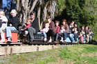 Children enjoy the Hamilton Miniature Railway. Photo / Supplied