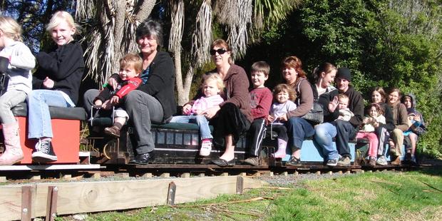 Children enjoy the Hamilton Miniature Railway. Photo / Supplied