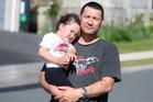 Daniel Mathew with daughter Jacquise, 3. Photo /  Ben Fraser