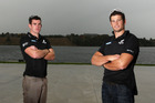 Nathan Cohen (right) and Joseph Sullivan (Left) during a morning of training on lake Karapiro. Photo / PHOTOSPORT