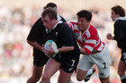 Paul Henderson captained the All Blacks against Japan in 1995. Photo / Getty Images