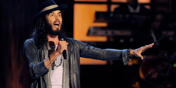 Russell Brand's stories from a bizarre life kept his audience laughing. Photo / AP