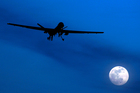 An unmanned U.S. Predator drone flies over Kandahar Air Field, southern Afghanistan. Photo / AP