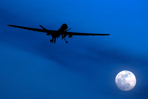 An unmanned U.S. Predator drone flies over Kandahar Air Field, southern Afghanistan. Photo / AP
